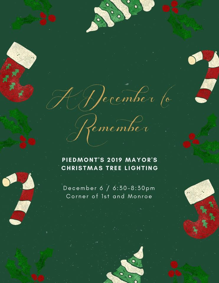 Piedmont Oklahoma Mayors Christmas Tree Lighting 2020 Piedmont, OK